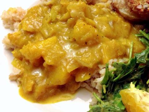 Butternut Curry Rice Bowl Garden Dish Vegan Recipe