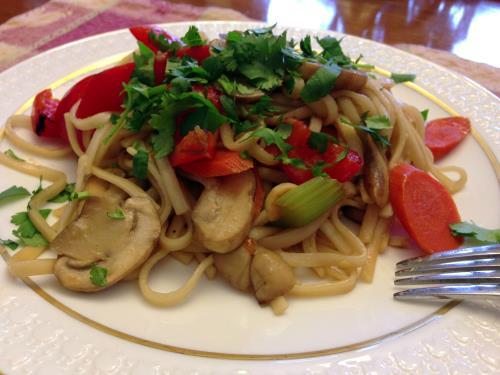 Udon Noodle Stir Fry Vegan Recipe