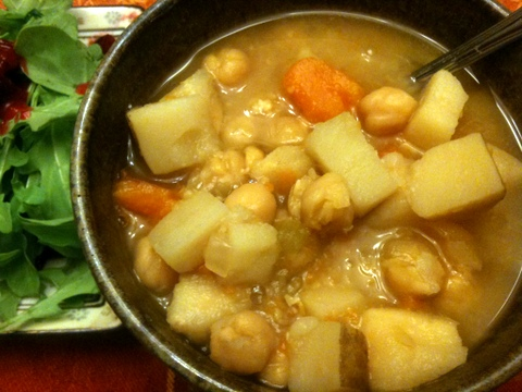 Sweet potato and chickpea stew