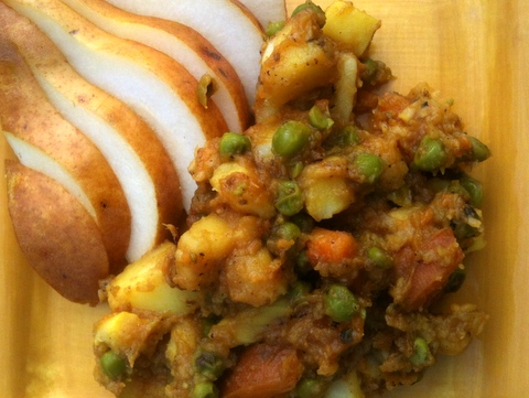 Indian-Spiced Parsnips, Peas, and Potatoes
