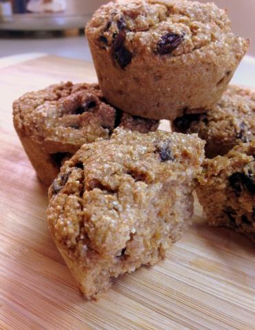Easy Whole-Wheat Raisin Muffins