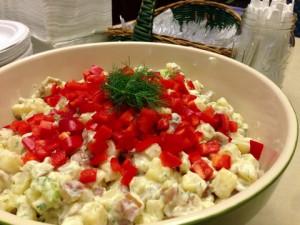 vegan picnic Garden Herb Potato Salad for a Crowd vegetarian