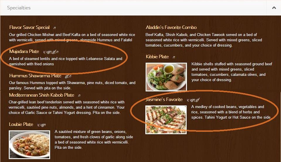 Vegan Eating Mediterranean Jasmine's Favorite Mujadara Plate