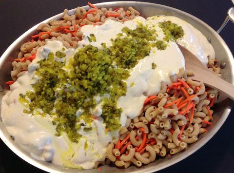 vegan macaroni salad plant based recipe