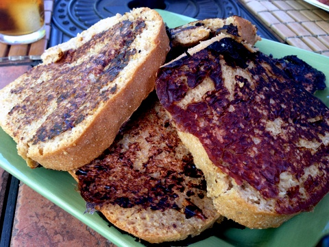 vegan french toast rhubarb sauce plant based recipy