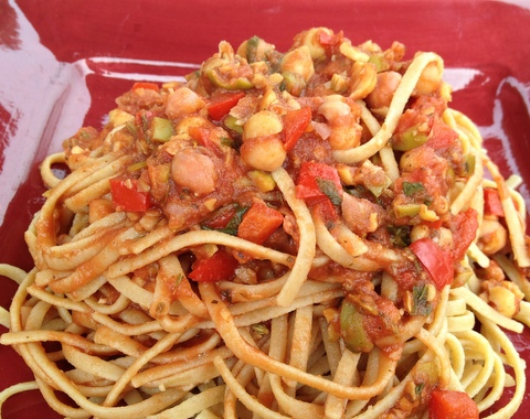 vegan pasta provencal plant based recipe