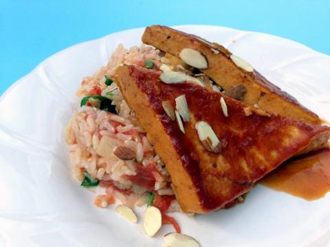 vegan hawaiian tofu plant based bbq rice recipe