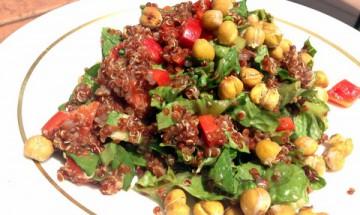 vegan quinoa crunchy salad