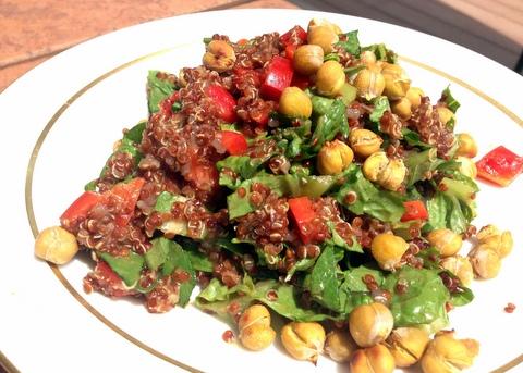 vegan quinoa crunchy salad recipe garden dish