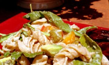 vegan tomato and avocado salad