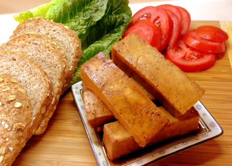 vegan baked teriyaki tofu sandwich recipe