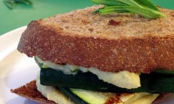 vegan grilled zucchini sandwich