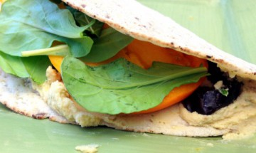 vegan flatbread sandwiches