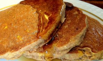 vegan corn pancakes