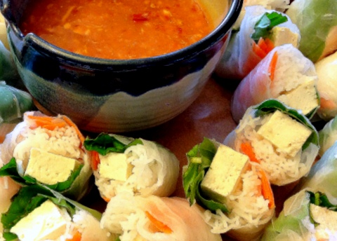vegan thai spring rolls