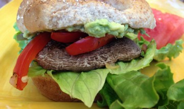 vegan portobello sandwich