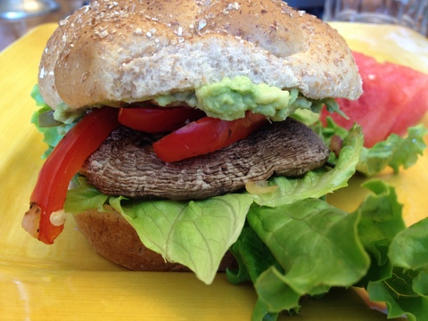 vegan portobello sandwich