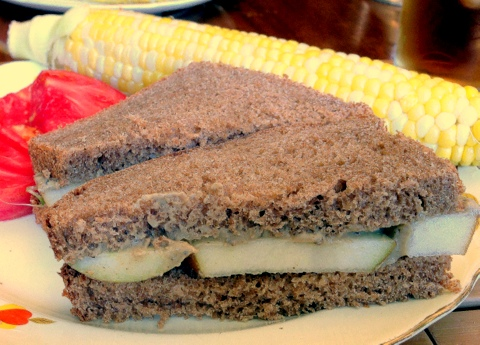 Pear and Smoky Eggplant Sandwiches - GardenDish.com