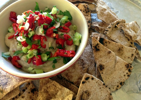 tuscan white bean dip garlic recipe garden dish vegan