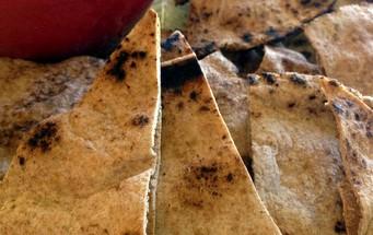 vegan baked pita