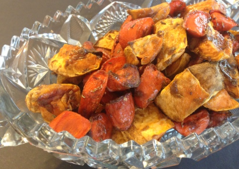 Holiday Roasted Carrots and Sweet Potatoes Garden Dish Vegan Recipes