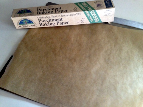 parchment-lined baking sheet